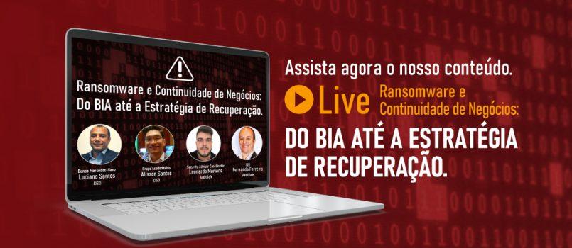 Assista a live sobre Ransomware