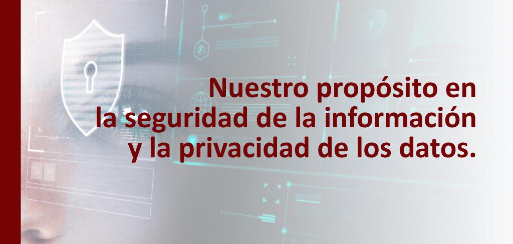 Nuestro propósito en la seguridad de la información y la privacidad de los datos